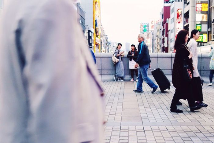 Crowd People People Watching Japan Suitcase Woman Bridge Perfect Imperfection