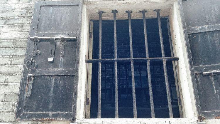 Wooden Shutters Window Bars Village Kaiping Jiangmen Guangdong China Travelphotography