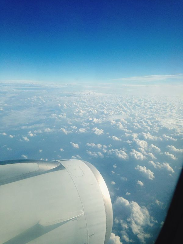 Over the clouds Airplane Nature Travel Beauty In Nature Aircraft Wing Sky Flying Flight ✈ First Eyeem Photo Etihadairways