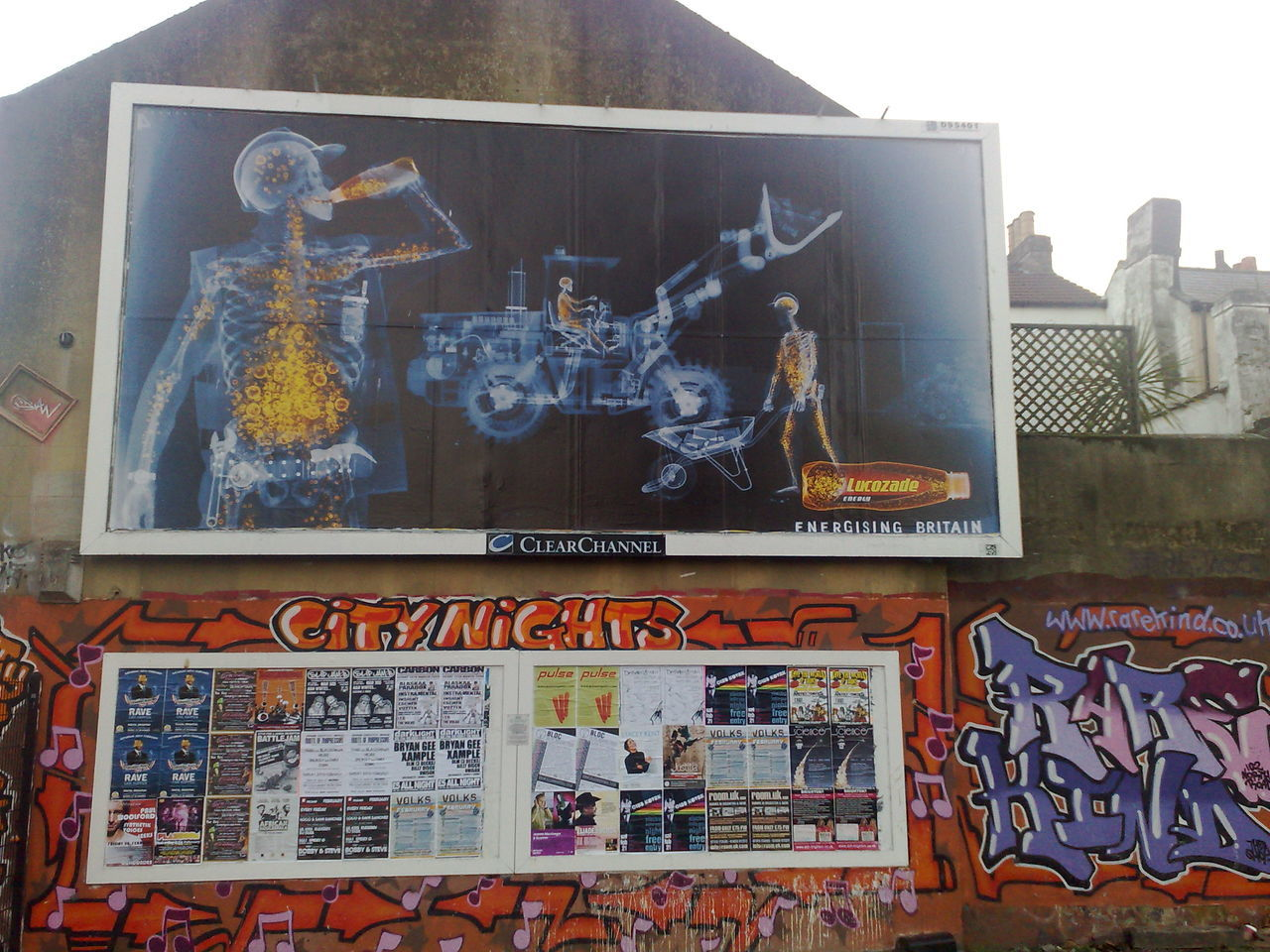 Glib Glug Billboard Graffiti Lucozade Orange Orange Color