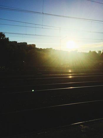 Good day, sunshine. Sunrise Sun Commuting Station Train Station Good Morning Morning