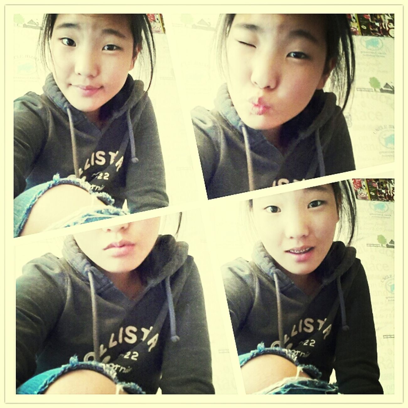 #chilling#boring#wednesday#hollister#pullover#abercrombie#jeans#me#korean#asian#girl♡