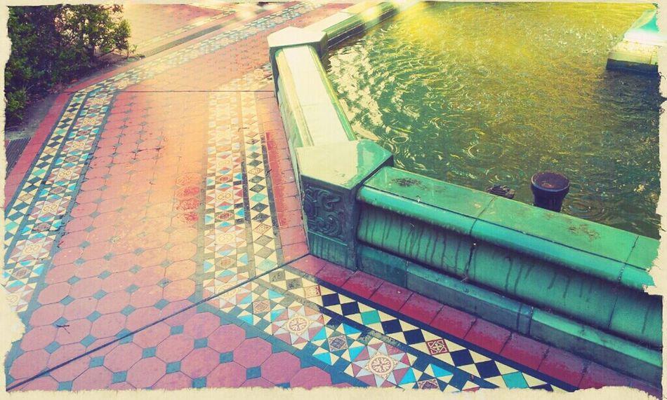 Fountain Tiles Wet Water on grounds of Rpah Sydney Sydney, Australia