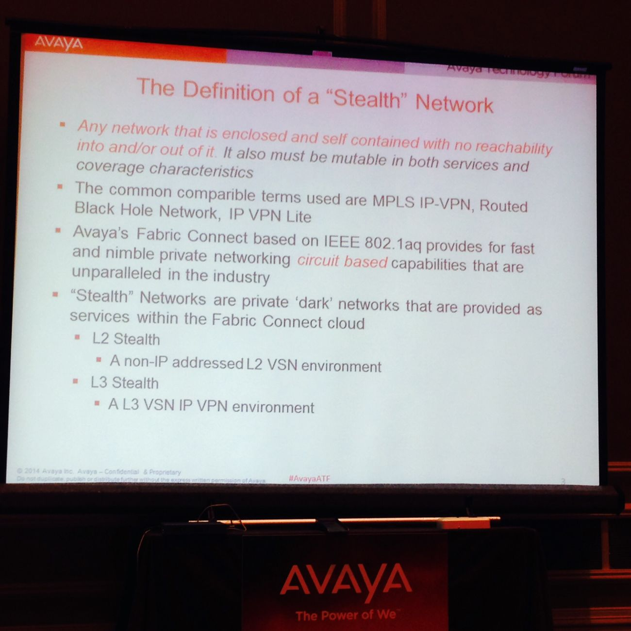 Avaya Spbm Stealth Networks Pci-dss This is just an example how to build stealth networks in seconds on SPBm-enabled networks based on Avaya Fabric Connect without a need of MW's.