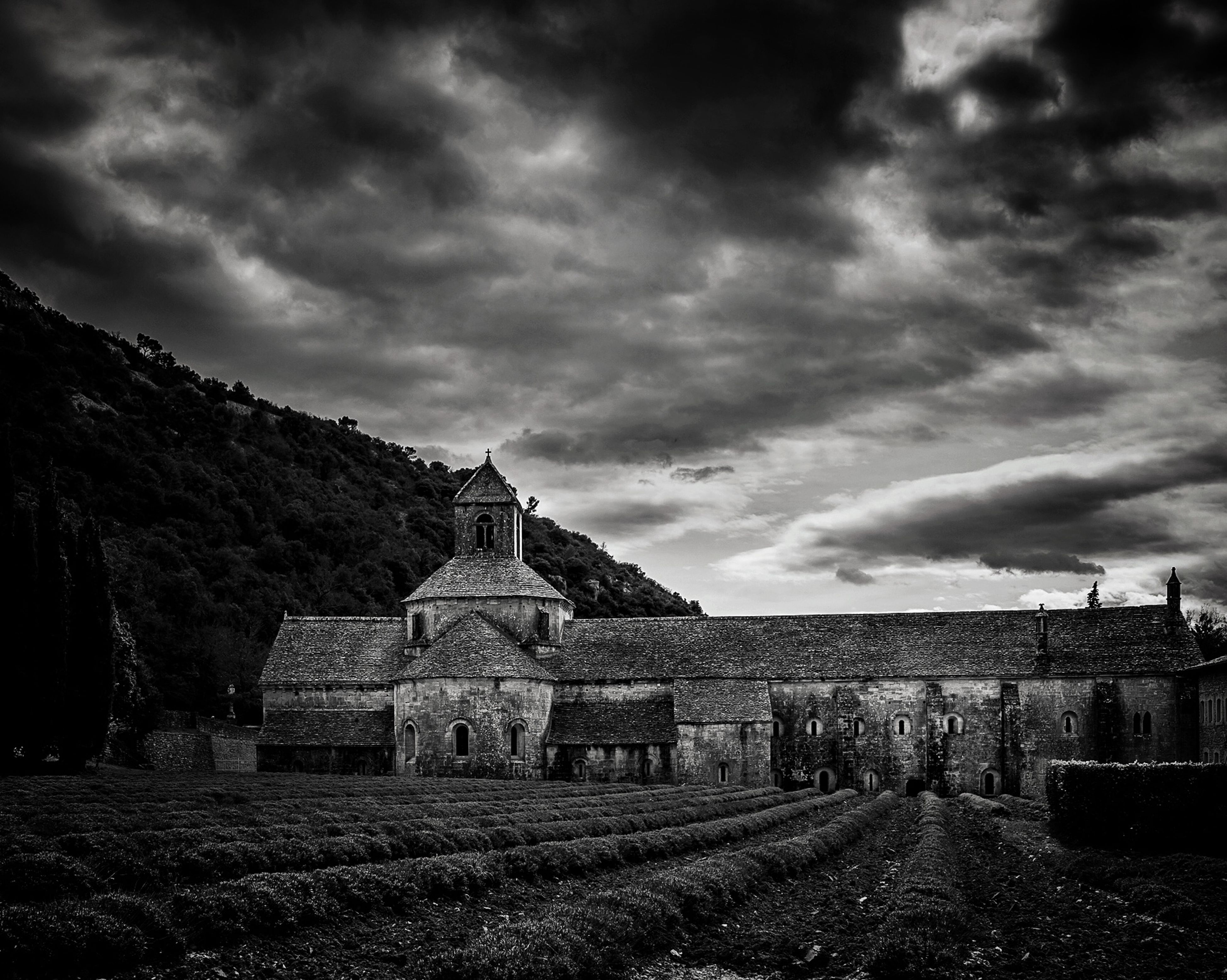 sky, cloud - sky, cloudy, architecture, built structure, building exterior, overcast, weather, landscape, cloud, history, storm cloud, field, old ruin, grass, old, the past, abandoned, nature, day