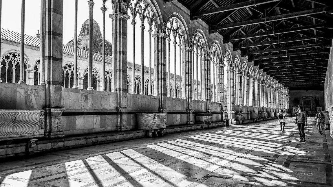 Black & White Historical Building Vacations Architecture Blackandwhite Built Structure Cemitery Day Dome Eye4photography  Indoors  Marble People Real People Sculpture Shadow Shadows Travel Destinations White Marble Window Women Camposanto