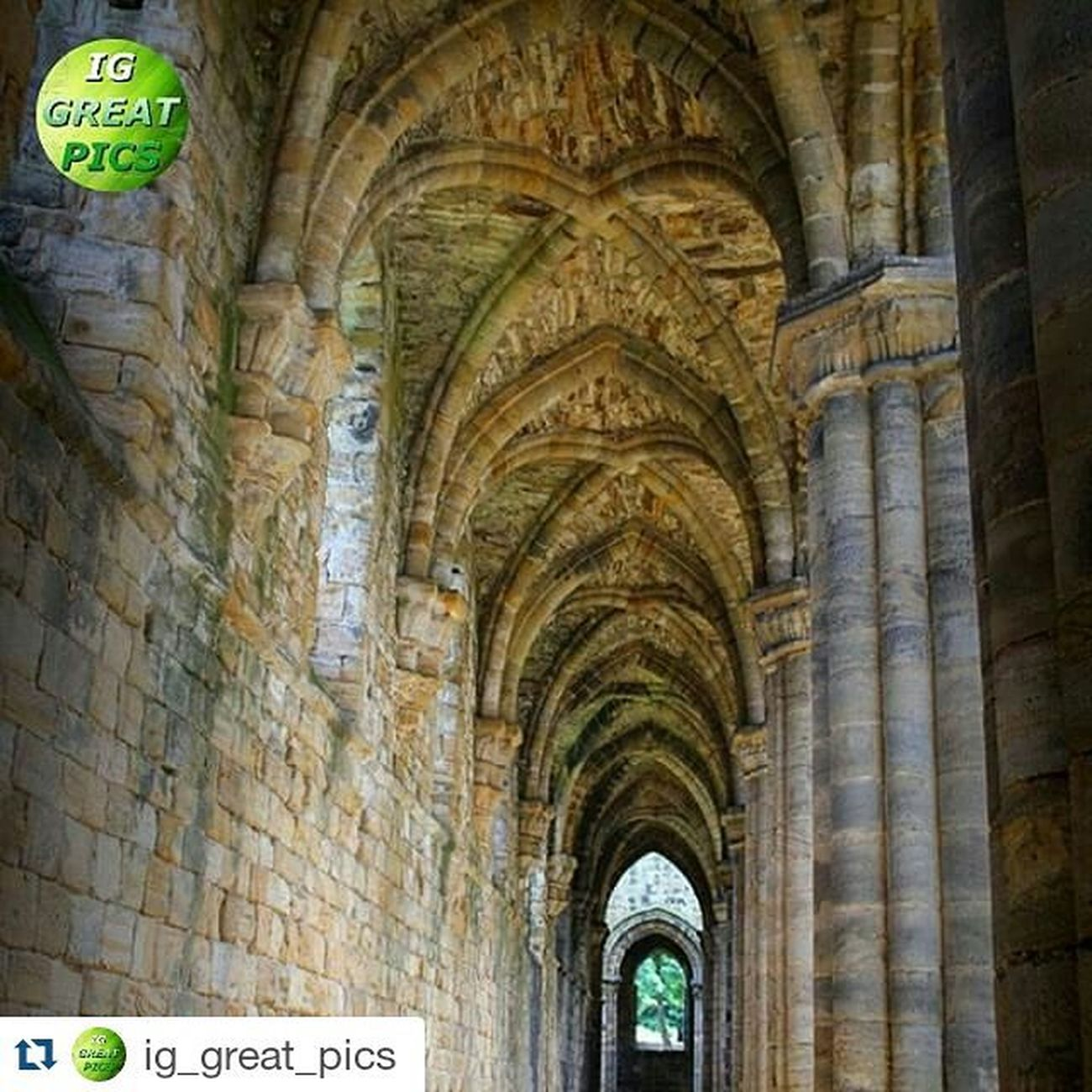 """Thankyou so much for the feature i really appreciate it, its always an honour to have my photos presented on you're page 😊👍Repost @ig_great_pics ・・・ July 12, 2015 • 💥ⓟⓡⓞⓤⓓⓛⓨ ⓟⓡⓔⓢⓔⓝⓣⓢ💥 ================================= FEATURED: Architectures PLACE: Kirkstall Abbey. Leeds. West Yorkshire - UK PHOTO BY:  @unitedk_photos  Congratulations !! 🌟👏🌟 Thanks for sharing with us this great pic!! Please IG friends show your support by visiting their wonderful gallery !! 👍 ================================= 📌 No matter the quantity but the quality of our followers 📌 ➡ Follow @ig_great_pics®  Tag your photos with Ig_great_pics ⛔ Photos must be your own ⛔ ================================= 📝 """"Photography is a tool for dealing with things that everybody knows, but nobody pays attention to"""" (Emmet Gowing) ================================= Ig_great_pics® Abbey Architecture Perspective Archs Kirkstall Unitedkinhdom Corridors  Gp_unitedk_photos Beautiful Architectureoftheday Ig_great_pics_architecture =================================  PLEASE !! Don't follow to unfollow  ================================== • • 👇"""