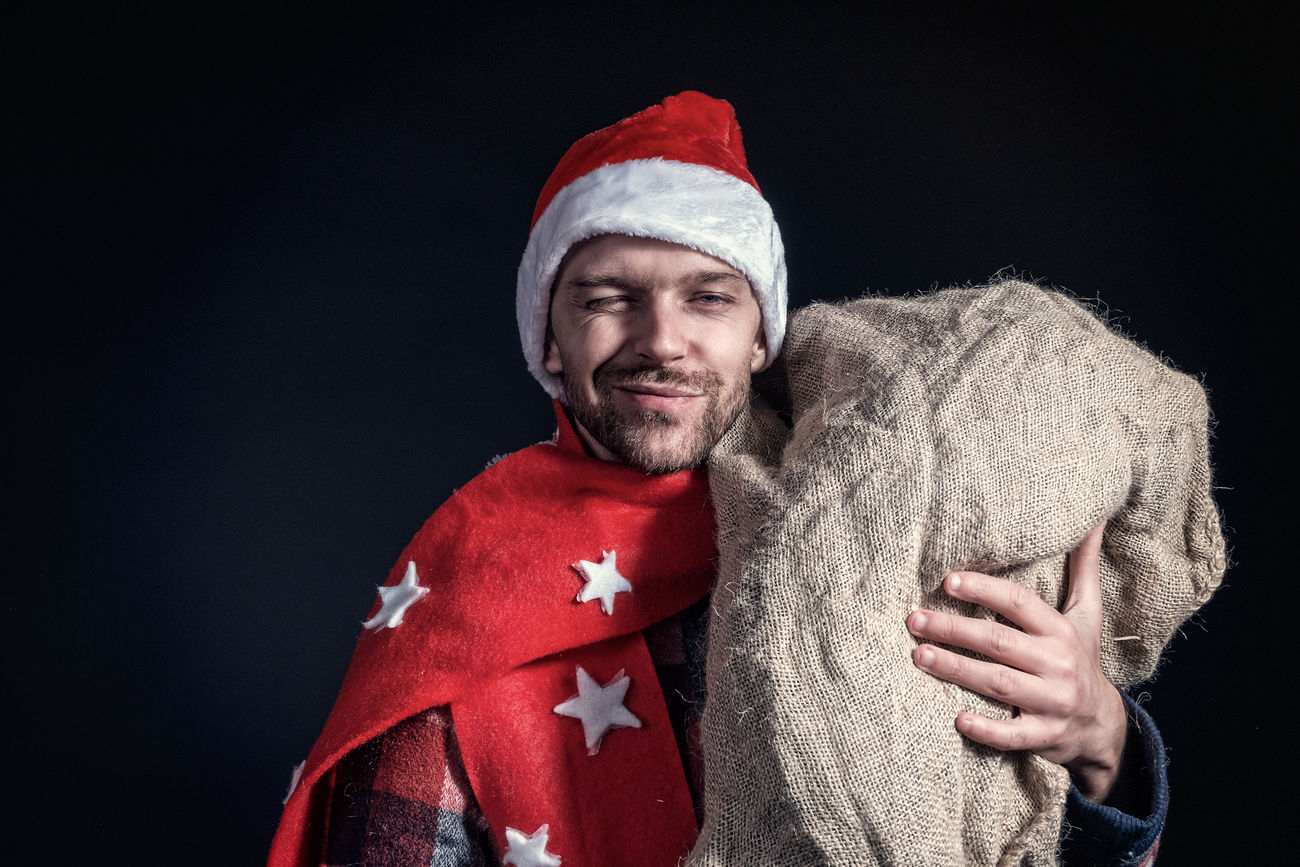 Beautiful stock photos of santa claus,  30-34 Years,  Adult,  Adults Only,  Bag