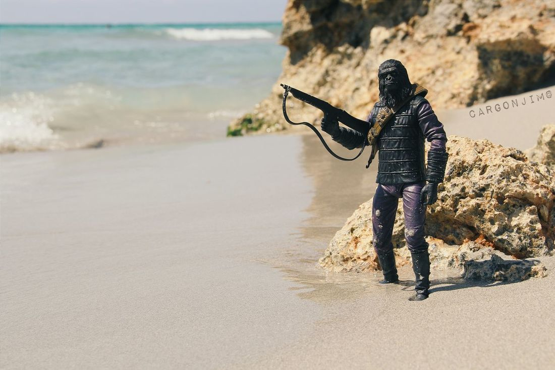 The forbidden zone Beach Beachphotography Toyphotography Planetoftheapes Necatoys Blue Sand Taylor Sweeteyes