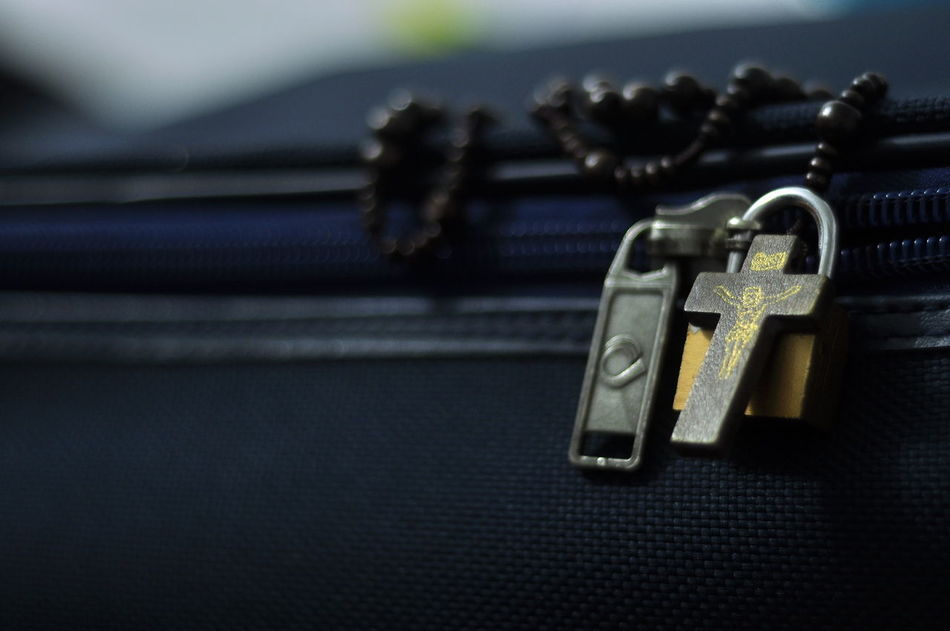 Bullet Close-up Day Focus On Foreground Gun Handgun Indoors  No People Religious  Rosary Still Life Weapon