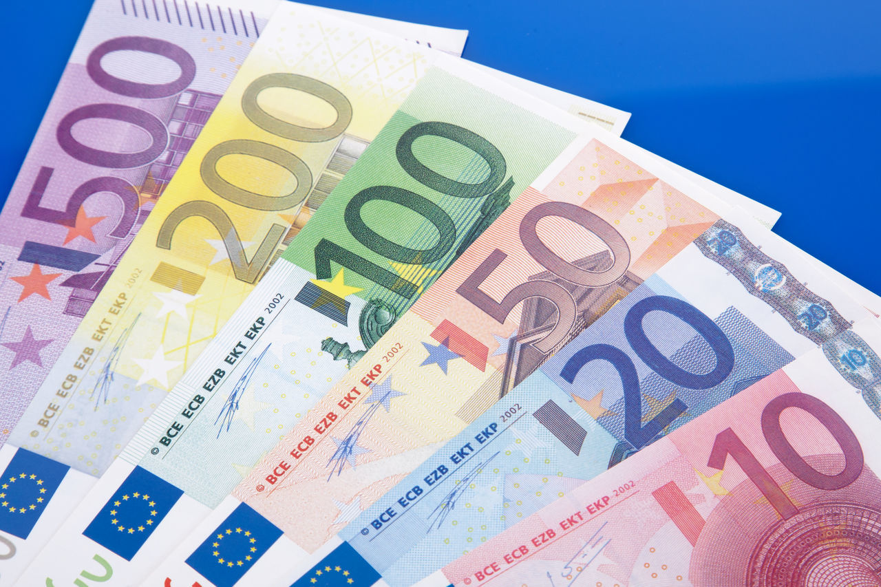 Various euro notes on blue background Blue Background Bonus Economy Euro Notes Finance And Economy Financial District  Financial Planning Financial Service Fiscal Policy Income Money Money Money Money Wealth