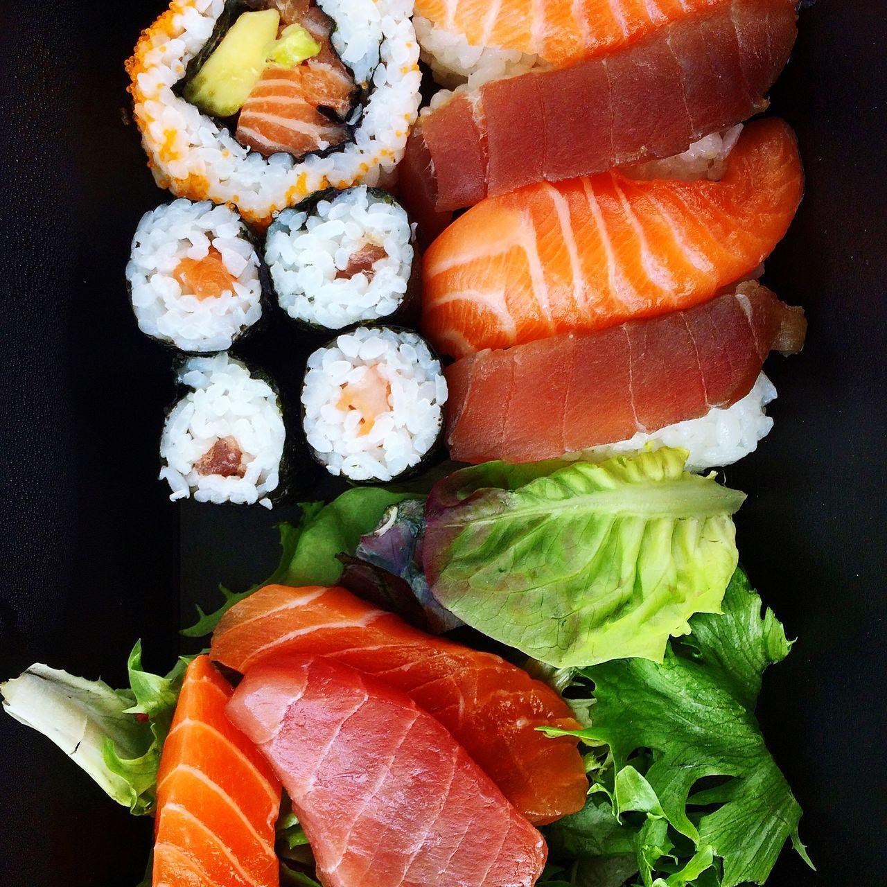 Sushi Nigiri Maki Nori Salmon Tuna Fish Fresh Japanese Food Takeaway