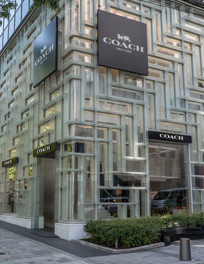 Coach retail shop at Omotesando shopping district, Tokyo, Japan Brand Building Exterior City Coach Day Display District Expensive Omotesando People Product Sell Shopping Store Street Tokyo