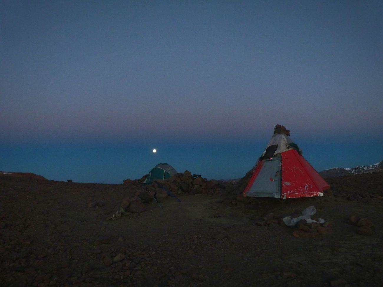 Refugio la parva, cordillera de los Andes Chile Montañismo Losandes Ocaso
