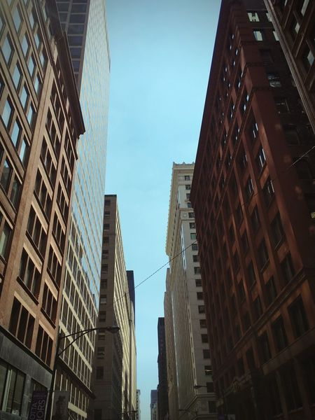 Streetphotography Street Buildings Chicago Streets Blue Sky High Rise Building