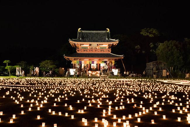 一時広報写真撮影のため立ち入り禁止に。だから場違いなクレーン車があったのねw 潮来市 万燈会 Lantern Beautiful Day Nightphotography Night View Enjoying Life Japanese Culture Beautiful Japan