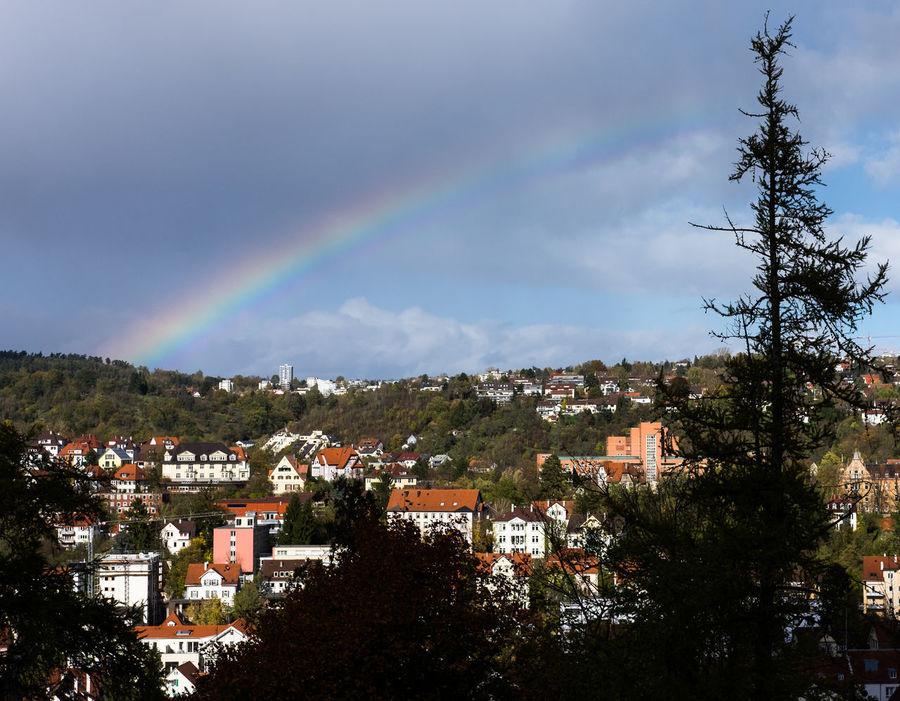 rainbow over Tübingen, Germany Tübingen City Cityscape Cloud - Sky Day No People Outdoors Rainbow Sky Weather