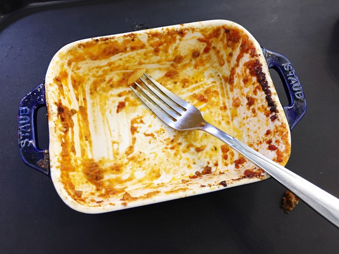 Fork Plate Food And Drink Apple Pie Sweet Food Food Close-up No People Sweet Pie Freshness Indoors  Ready-to-eat Lasagna Meat Sauce Empty Delicious Full