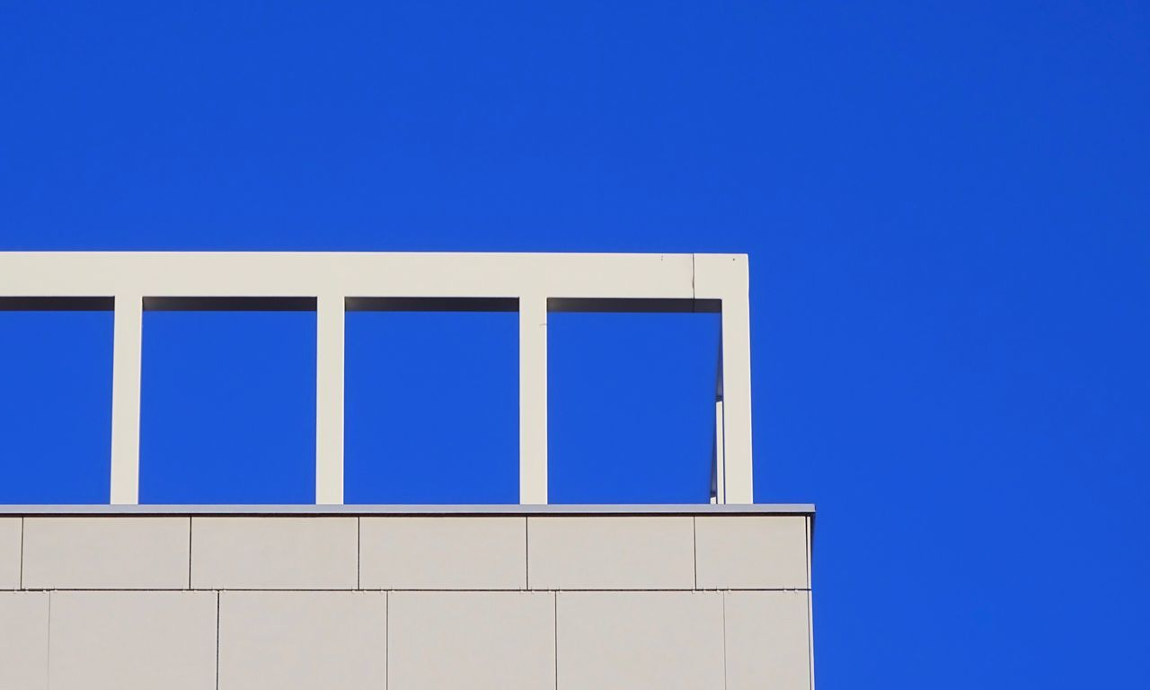 blue, copy space, clear sky, no people, day, outdoors, architecture