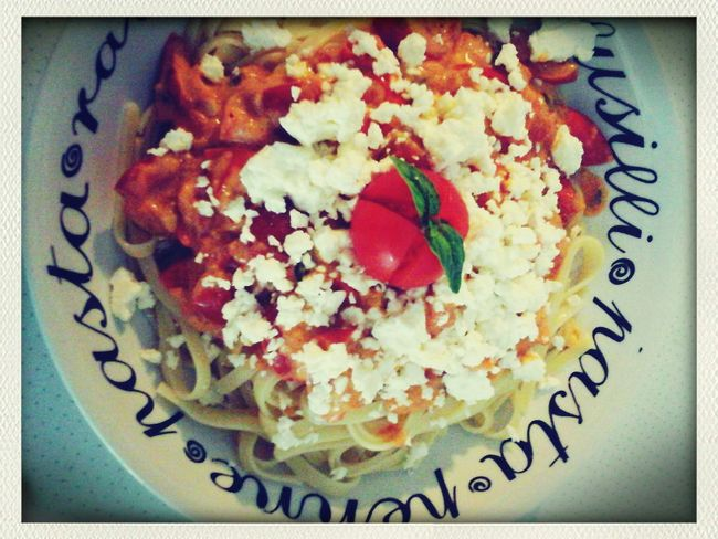 Oh jea...great dinner! Dinner Time Nudelmontag Tomatoes Homemade Nudle