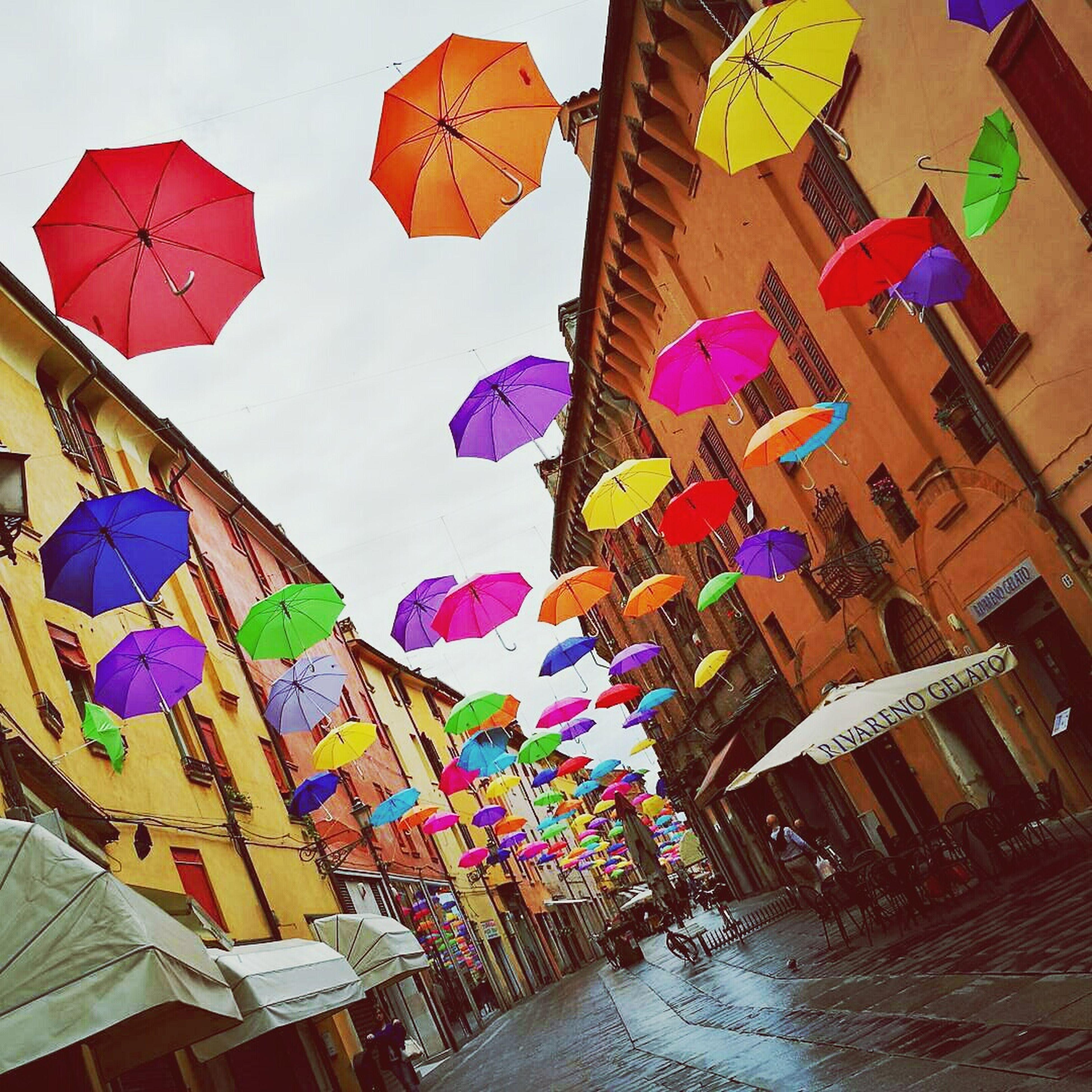 multi colored, colorful, art, variation, decoration, no people, day, design, sky, blue, modern, close-up, tilt, arrangement