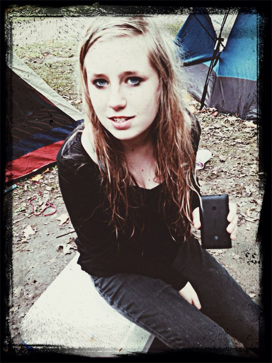 I truely love this chick ? Camping Being Adventurous Marshmallows First Eyeem Photo