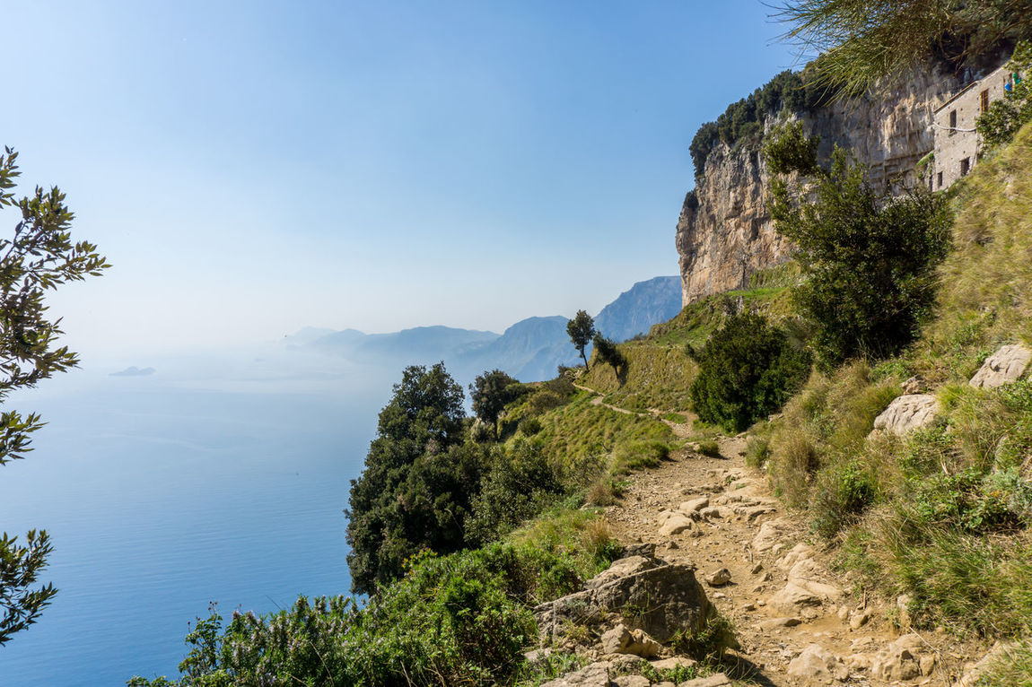 We decided to make this really nice hike in Italy called the path of god Beauty In Nature Blue Clear Sky Day Landscape Mountain Nature No People Outdoors Scenics Sky Tranquil Scene Tranquility Tree Water