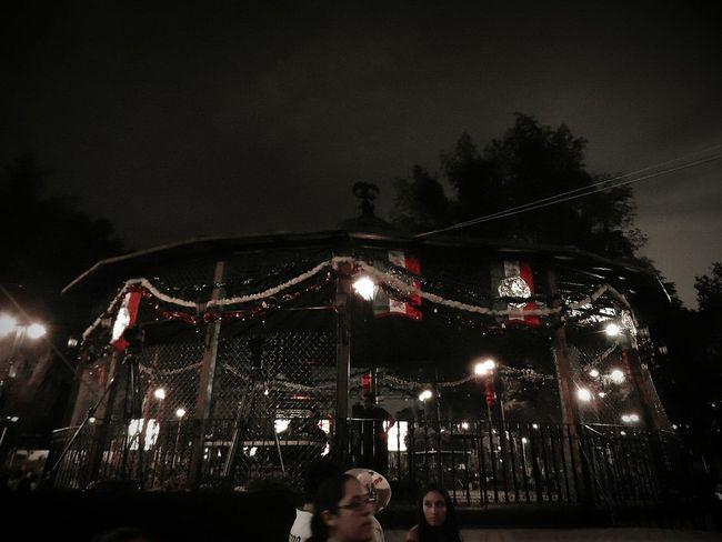 Noche tradicional Mexico Night Illuminated Arts Culture And Entertainment Kiosco  Coyoacán Coyoacan Street Mexico DF