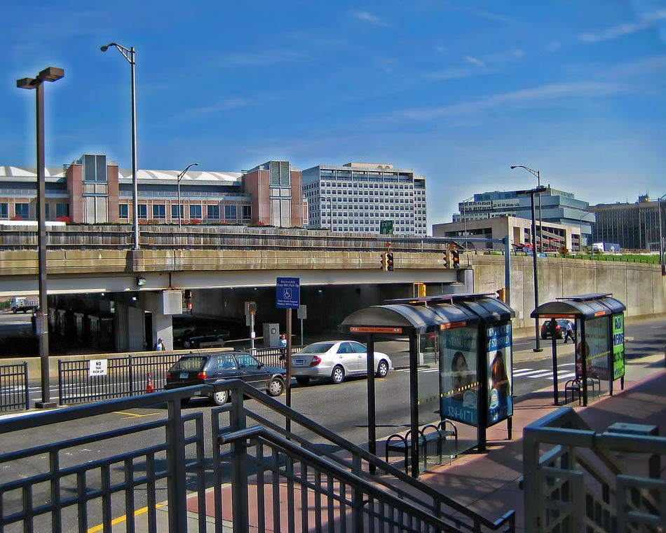 Downtown Stamford - Stamford, CT Architecture Bridge - Man Made Structure Building Exterior Built Structure City Connecticut Day Modern No People Outdoors Railing Sky Stamford Ct Transportation