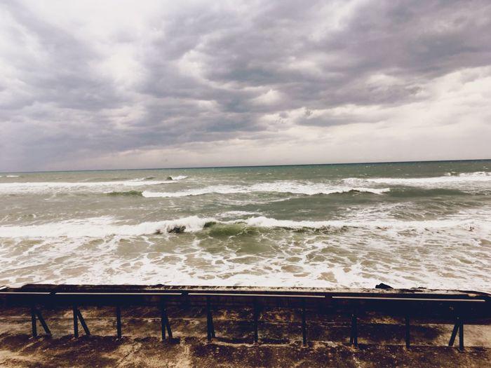 Sea Horizon Over Water Wave Beauty In Nature No People Beach Outdoors Scenics Biarritz