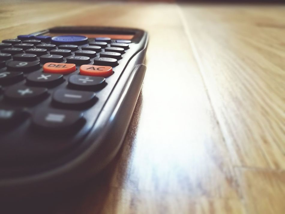 Lieblingsteil Close-up Indoors  Calculator Wooden Texture Numbers Abstract Orange Casio Technology Growth Sales Performance Digits