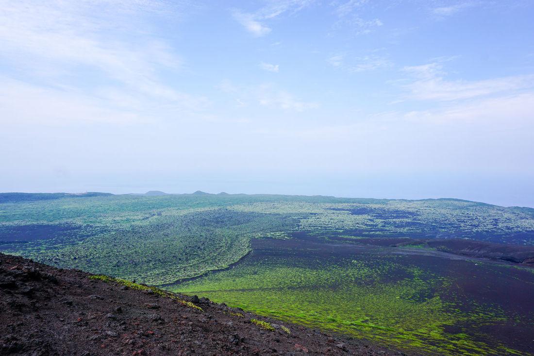 Beauty In Nature Black Earth Clouds Dead Lands Dead Volcano Inactive Volcano Izuoshima Island Japan No People Sky Tokyo Volcanic Landscape Volcano