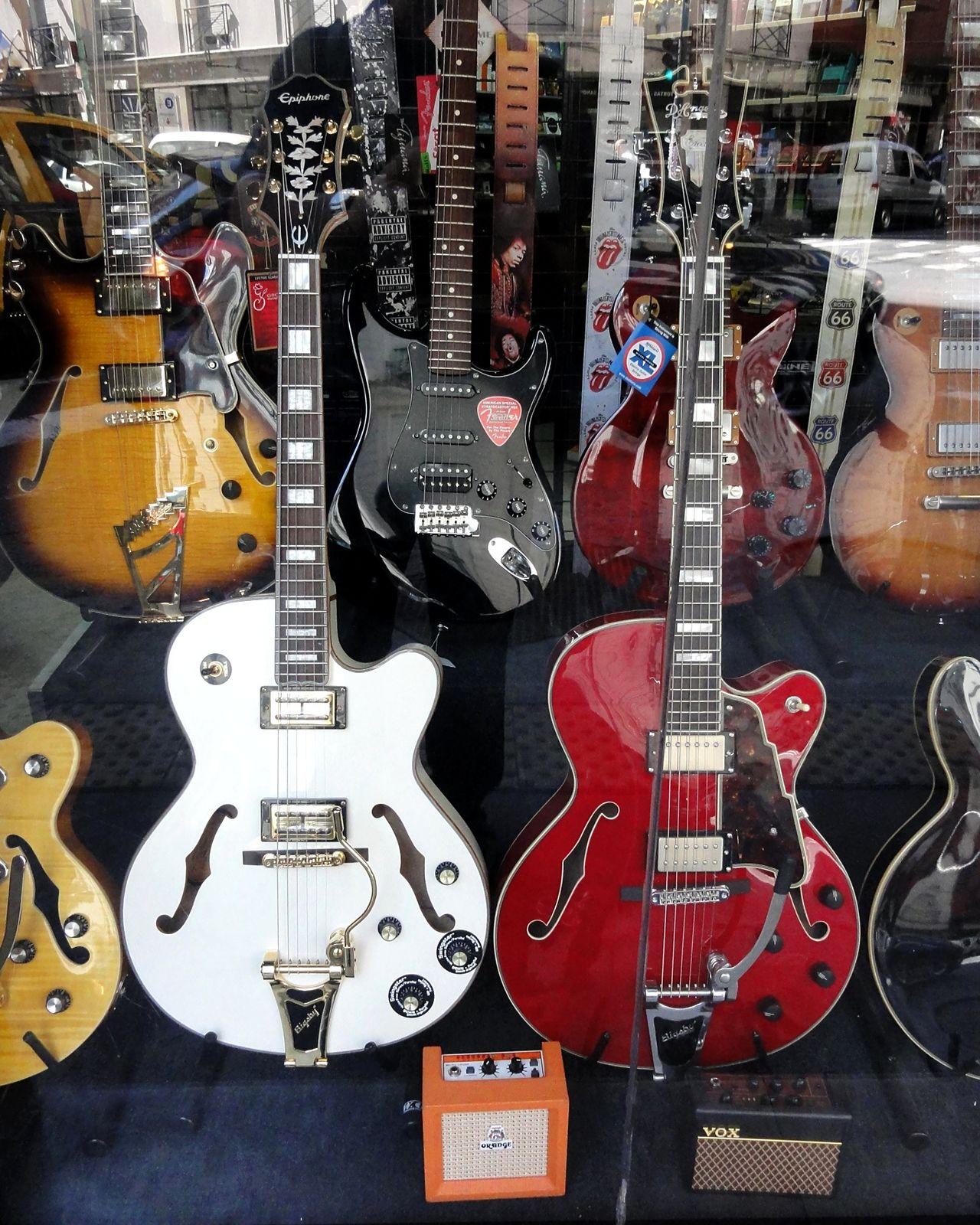 Taking Photos Guitars Commerce