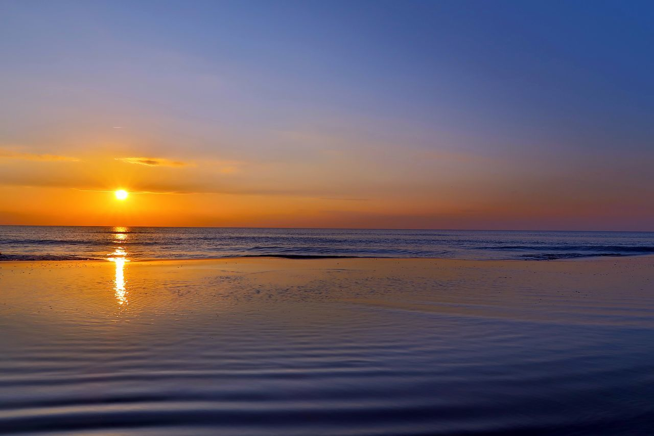 Denmark Beach Beauty In Nature Cloud - Sky Day Henne Strand Horizon Over Water Idyllic Nature No People Outdoors Reflection Sand Scenics Sea Sky Sun Sunset Tranquil Scene Tranquility Travel Destinations Vacations Water Wave First Eyeem Photo