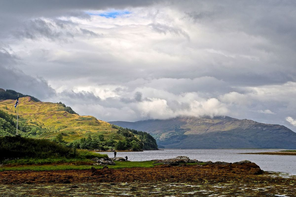 Beauty In Nature Calm Cloud Cloud - Sky Cloudscape Cumulus Cloud Idyllic Lake Loch Duich Loch Duich In The Highlands Of Scotland Majestic Mountain Mountain Range Nature Scenics Scotland Scotland 💕 Scotlandsbeauty Scottish Highlands Tranquil Scene Tranquility Water