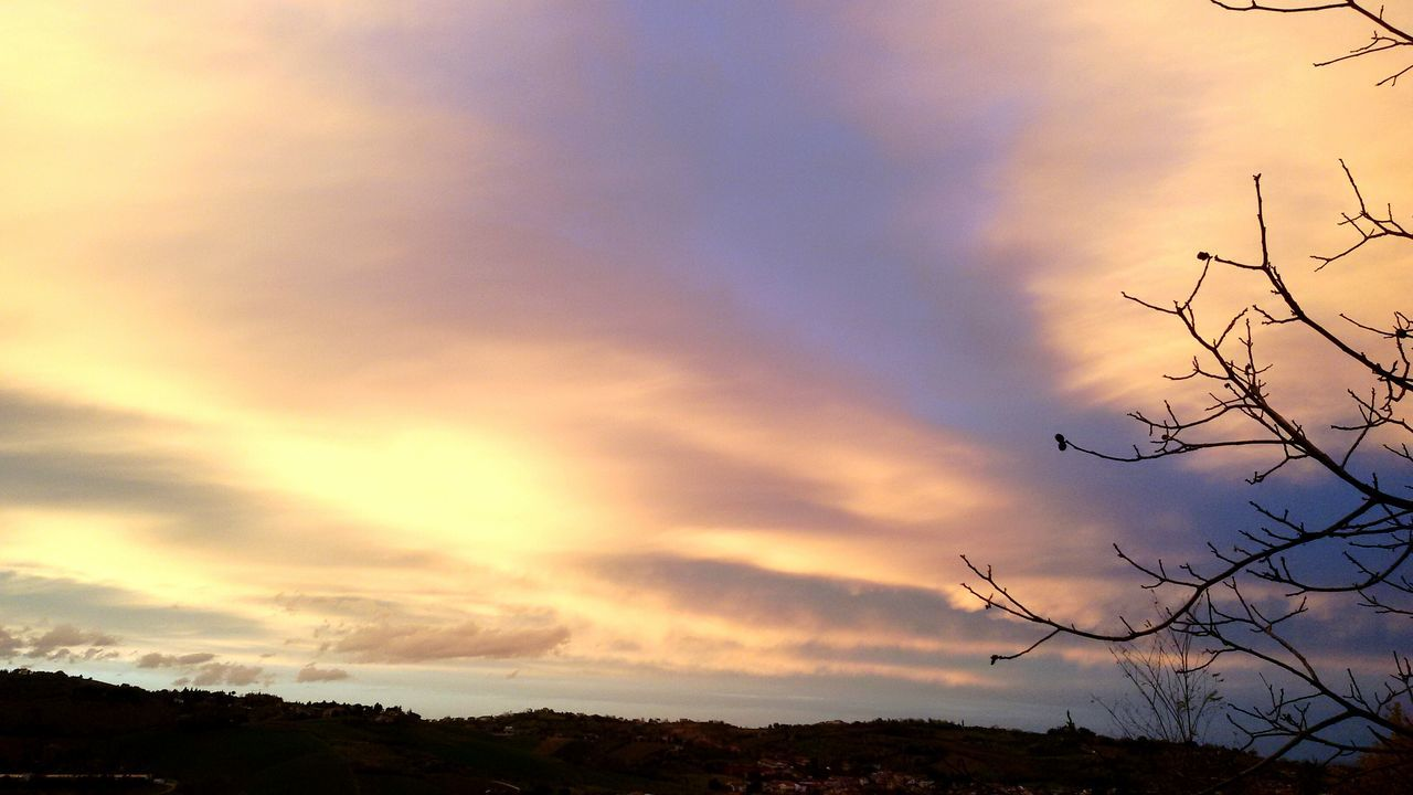 sunset, sky, cloud - sky, nature, beauty in nature, scenics, tranquil scene, silhouette, tree, tranquility, outdoors, no people, day