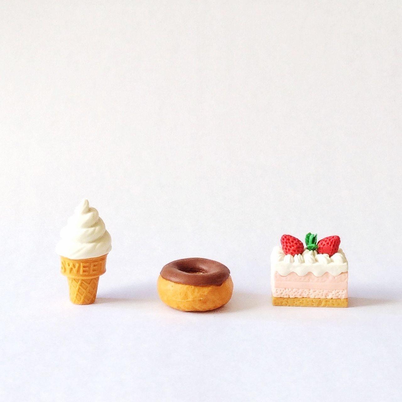 Sweet Sweets. Food Food Art Plastic Plastic Food Cute Ice Cream Cake Doughnuts Sweet Sweets Sweet Things Cute Eraser Small Things Pastel Power The Shop Around The Corner