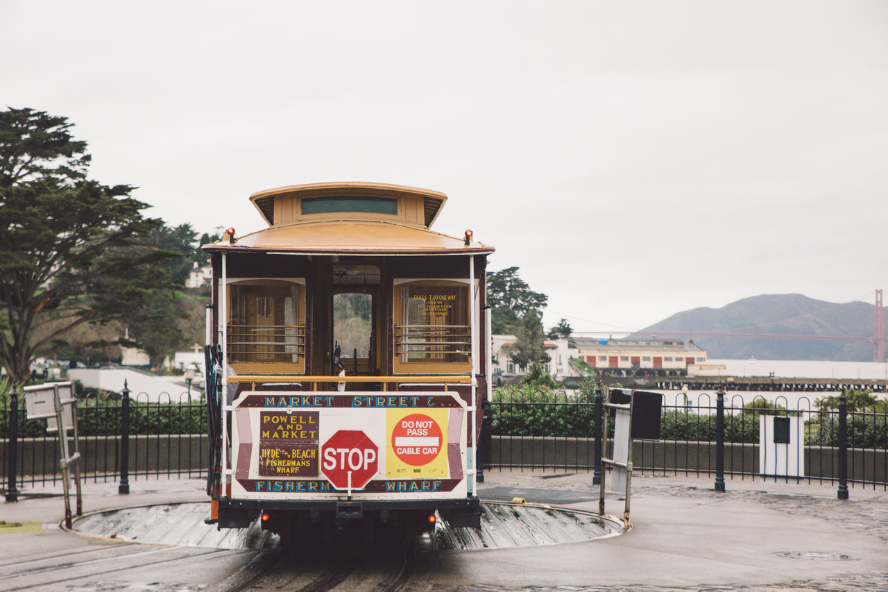 Cable Car Day No People Outdoors Rainy Day Sky Tram Transportation Transportation Travel Tree Visit
