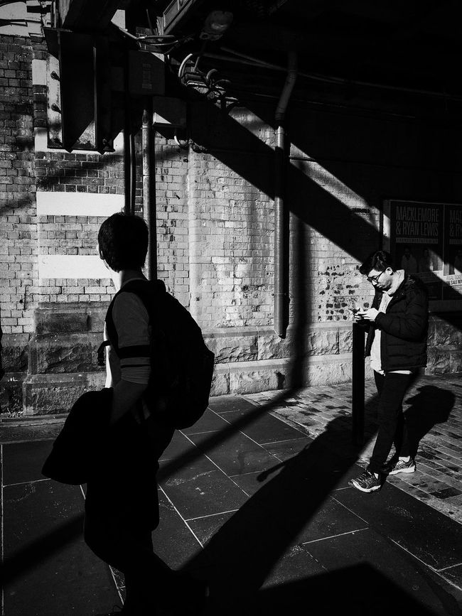 Streetphotography Streetphoto_bw Streets Of Melbourne Everyday Australia Blackieapp Adobelightroommobile Mobilephotography IPhoneography ShotoniPhone6s Blackandwhite Monochrome People Watching MelbournePhotographer Shootermag Shootermag_australia