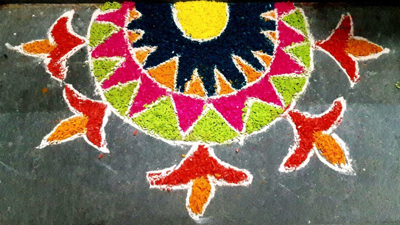Multi Colored Close-up No People Textured  Day Indoors  Rangoli Diwali Celebration Festive Feels