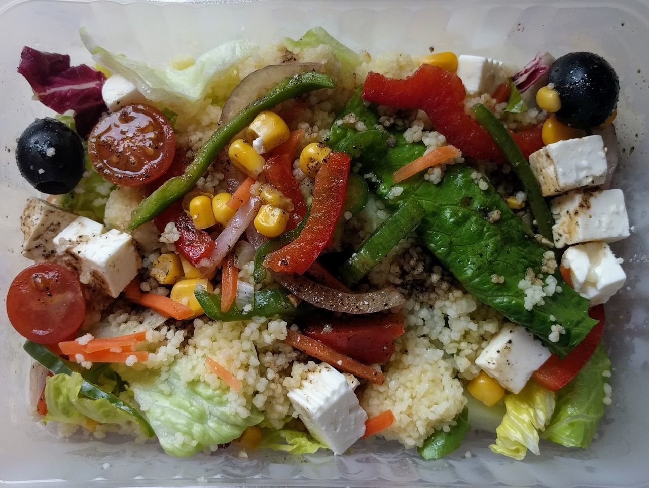 Healthy Eating Food Food And Drink Freshness Vegetable No People Feta Cheese Indoors  Salad Vegetarian Food Greek Food Ready-to-eat Healthy Lifestyle Dieting Close-up Day Ensalada Cuscus Queso Feta Verduras Take Away