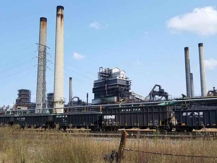 Industry Sky Day Business Finance And Industry Industrial Equipment Factory No People Manufacturing Equipment Smoke Stack Outdoors Pennsylvania Mills US Steel Plant Power Station Mon Valley Works Coke Fuel And Power Generation Largest Coke Manufacturing Facility Facility Clairton Works Petrochemical Plant Oil Refinery Oil Well Oil Industry Perspectives On Nature The Graphic City Mobility In Mega Cities Colour Your Horizn