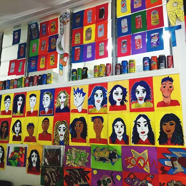 Pop Art Inspired Warhol Art Display Kids Art. Colourful Pop Pow Colour Warhol Inspired Colourful Pop Art Andy Warhol Kids Artwork Check This Out Pop Art