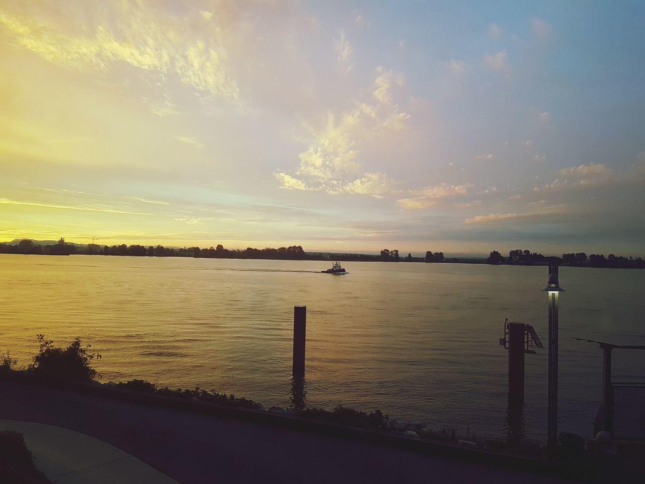 43 Golden Moments golden water&sky Boat Water Sky Night