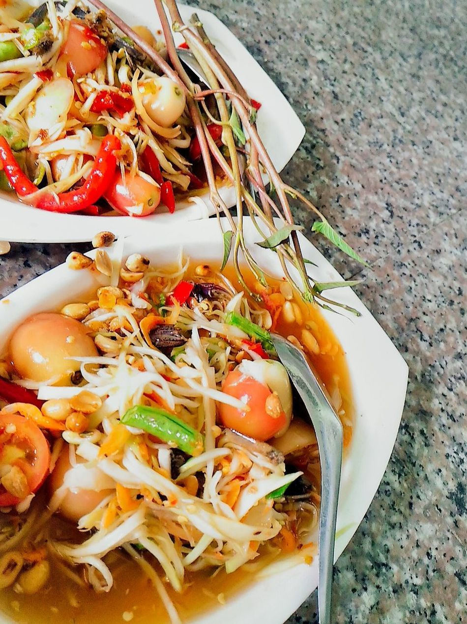 Freshness Dietfood Spicy Thai Food Asian Food Party Hungry Somtam  Thai Spicy Salad Papaya