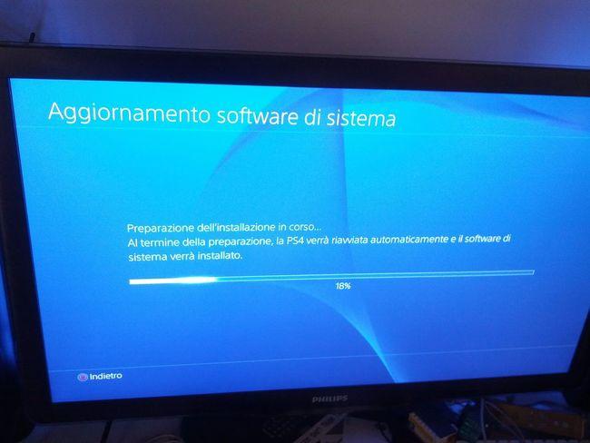 Aggiornamento Update PS4