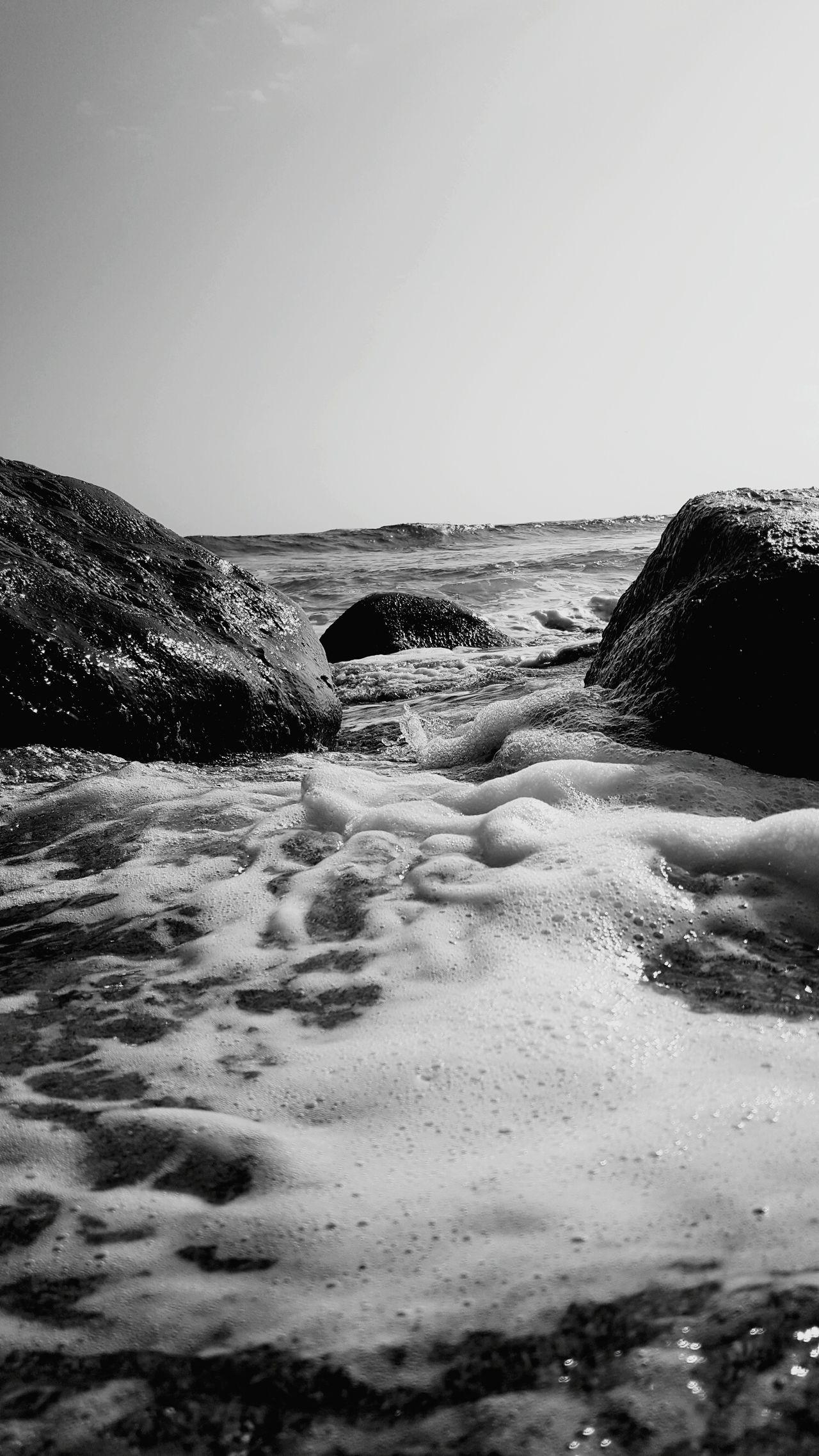 Sea Beach Wave Beauty In Nature Kauai Life Lydgate Beach Beach Photogrqphy Wet Rocks In Water Blackandwhite Photography