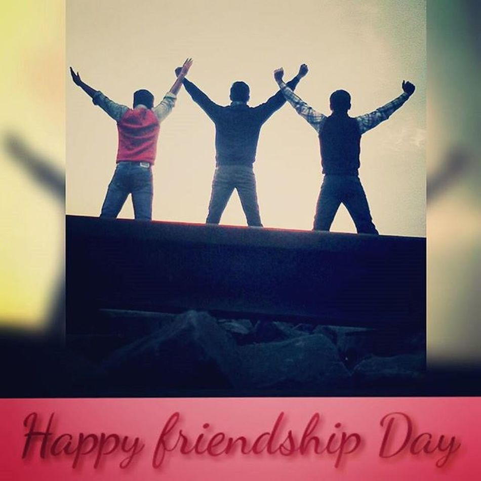 HappyFriendshipDay OldMemories Wethree Missuall OwnClick Railwaytrack