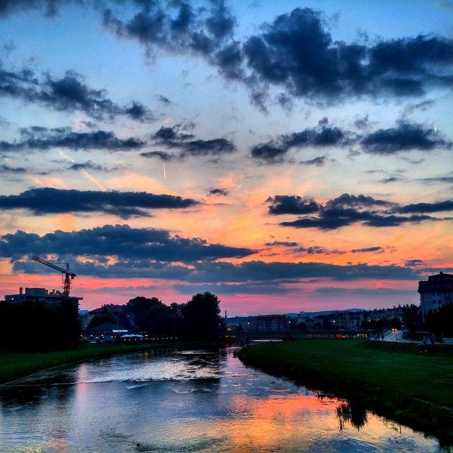 Sarajevo Susnet Clouds And Sky Skyporn SponsorMePlease Riverreflection Vibrant Colors Soamazing