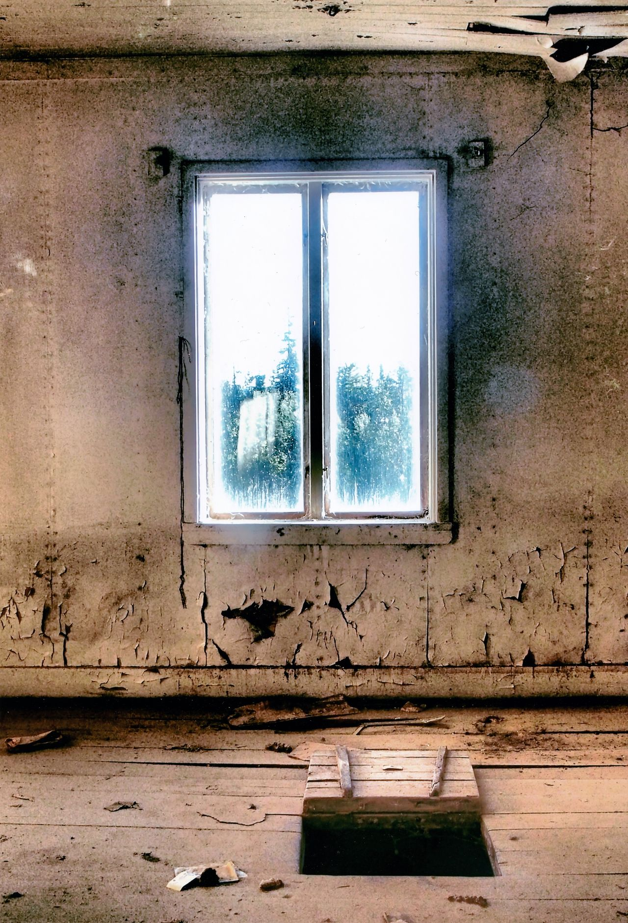 Trapdoor in decaying house Day Decaying Building Indoors  Lost Places No People Rotten Stuga Trapdoor Window